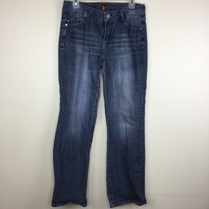Sasson Bootcut Boogie 10 Distressed Denim Jeans